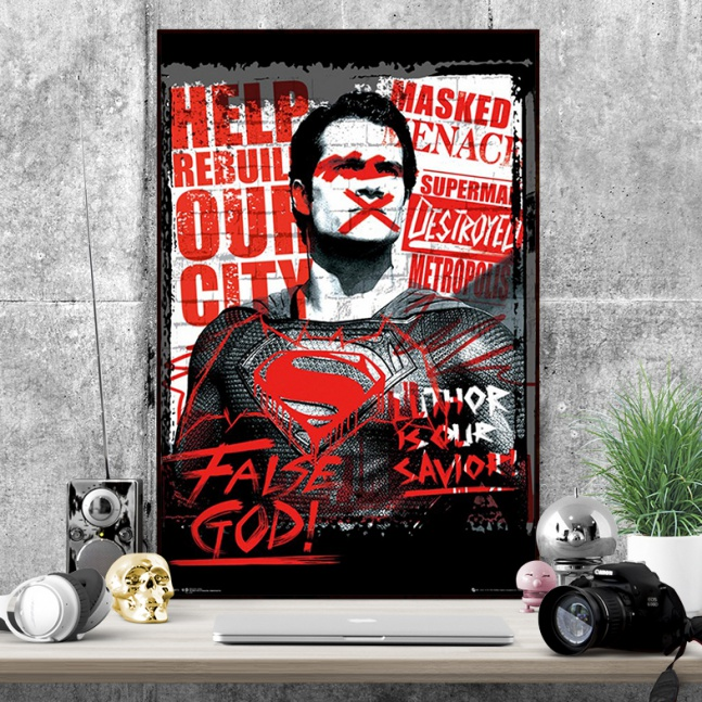Plakat Batman vs Superman False God
