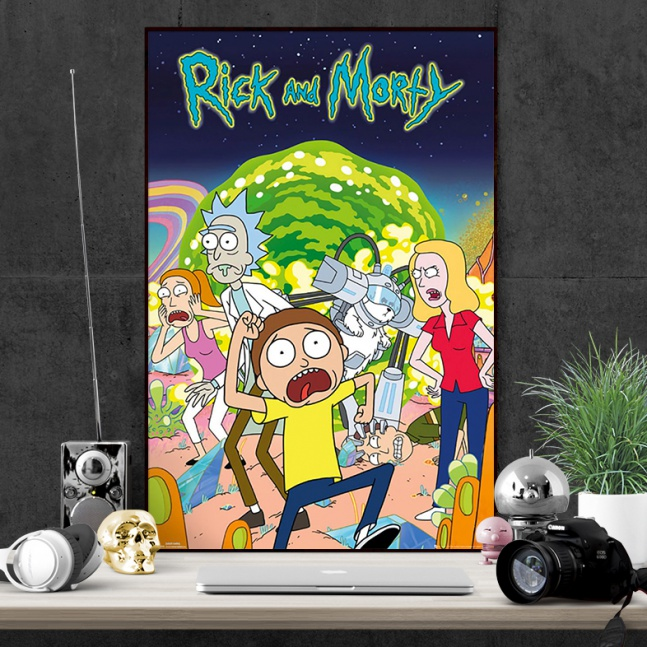 Plakat Rick and Morty Bohaterowie