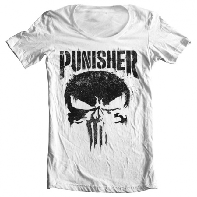 Koszulka Marvel's The Punisher Big Skull Wide Neck