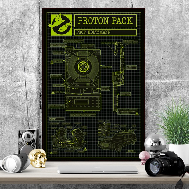 Plakat Ghostbusters Proton Pack